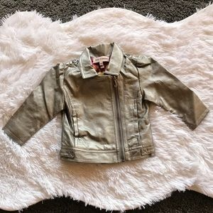Juicy couture baby leather jacket 12m. B1